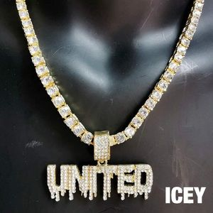 18K Gold Plated Dripping United Tennis Chain